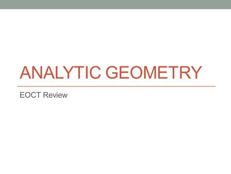 analytical geometry grade 10 test pdf
