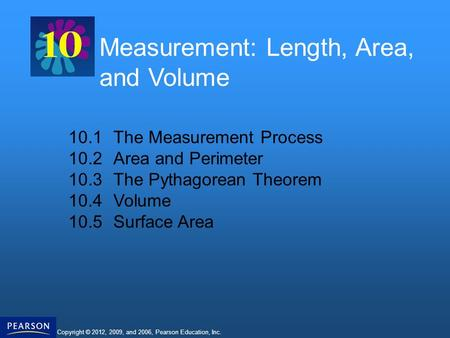 Measurement: Length, Area, and Volume