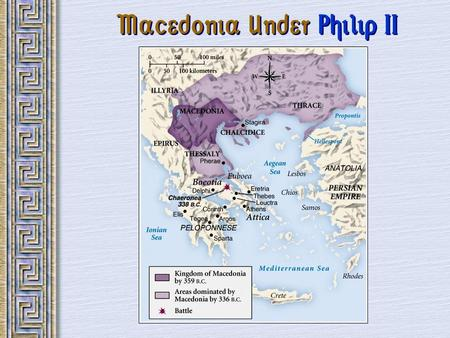 Macedonia Under Philip II. Final Act in Classical Greece Greeks continued to fight intermittently for two generationsGreeks continued to fight intermittently.