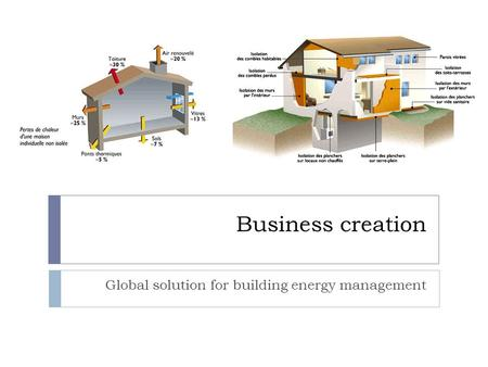Business creation Global solution for building energy management.