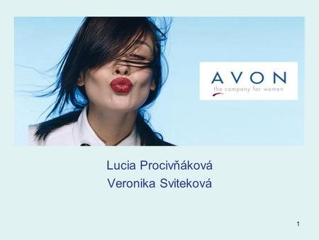 1 Lucia Procivňáková Veronika Sviteková. 2 The Story Line… How It All Began Where Avon Is Now Avon Vision And Mission Financial Data Products Who Are.