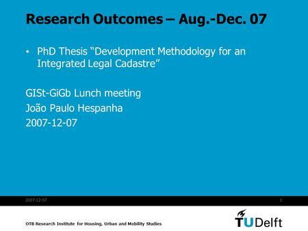 Phd Thesis Methodology