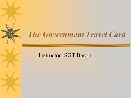The Government Travel Card