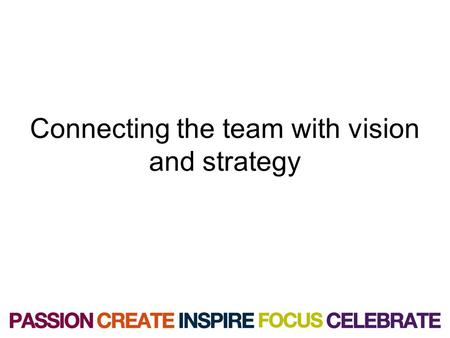 Connecting the team with vision and strategy. The imago vision & Mission Our Vision: to be the best at what we do. Mission: to exceed customer expectations.