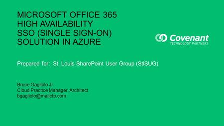 Single sign on with adfs and azure active directory ppt download - Single sign on with office 365 ...