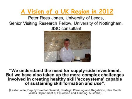 What can JISC do for CETLs? Peter Rees Jones CETIS ...