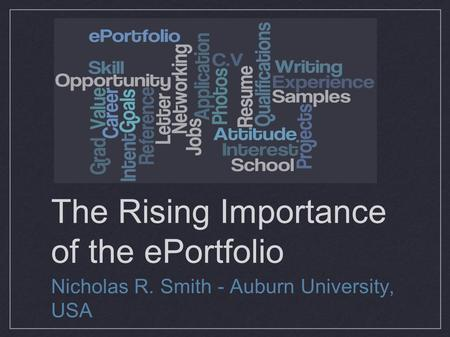 The Rising Importance of the ePortfolio
