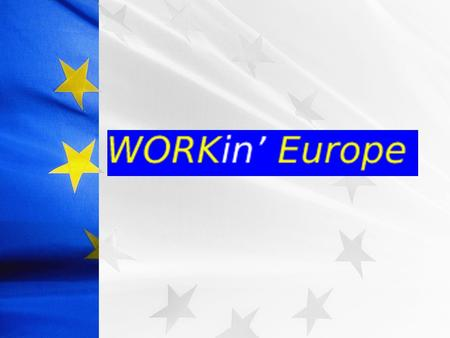 Work field Academic field Social field ACADEMIC FIELD OBJECTIVES To be aware of the European programmes and grants available. To gain knowledge of which.
