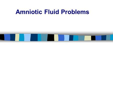 Amniotic Fluid Problems. Amniotic fluid is an important part of pregnancy and fetal development. This watery fluid is inside a casing called the amniotic.
