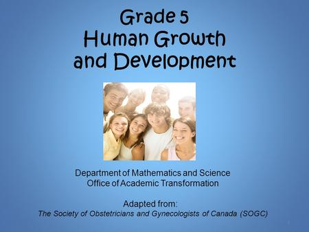 Grade 5 Human Growth and Development