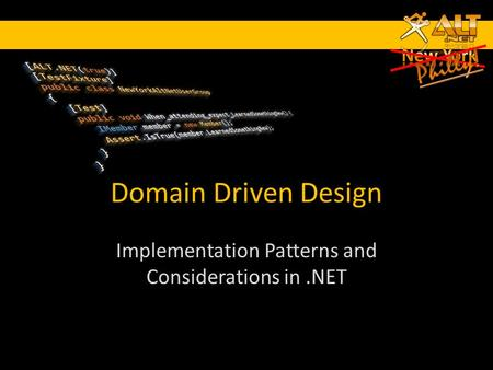 Domain Driven Design Implementation Patterns and Considerations in.NET.