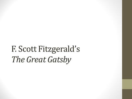 a literary analysis of the moral issue in the great gatsby by f scott fitzgerald How does f scott fitzgerald incorporate satire into his novel ''the great gatsby  literary analysis: help and  satire in the great gatsby related study materials.