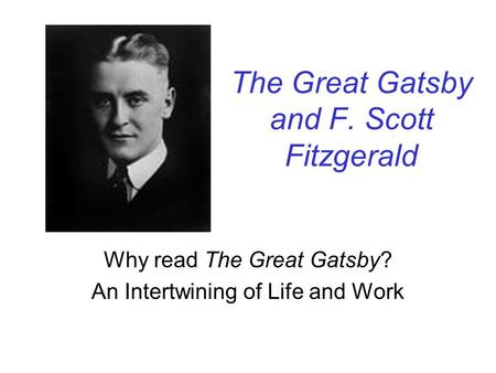 f. scott fitzgerald thesis statement