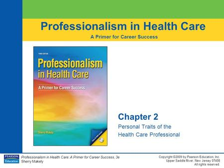 Chapter 2 Personal Traits of the Health Care Professional