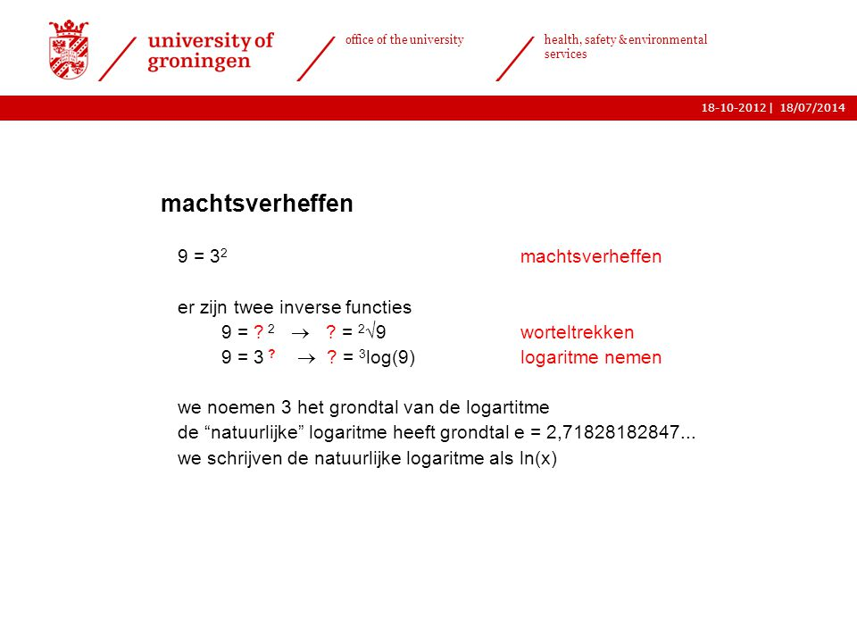 | office of the university health, safety & environmental services 18-10-2012 9  logaritmisch grafiekpapier