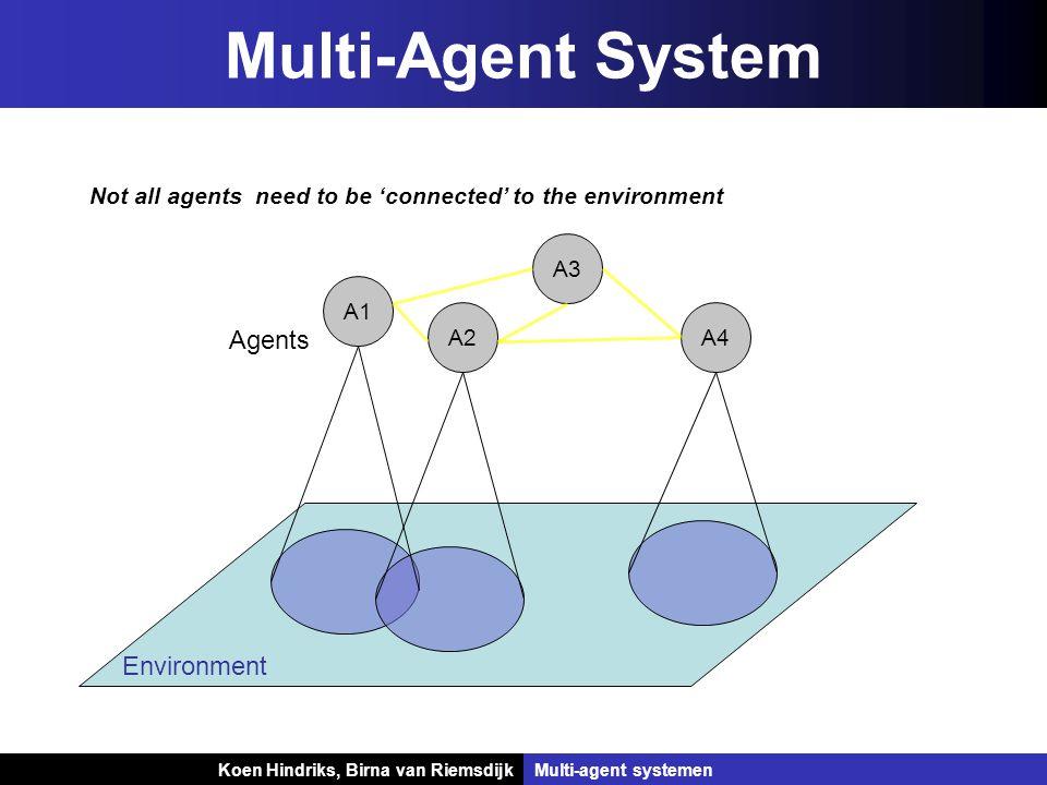 Koen Hindriks, Birna van Riemsdijk Multi-agent systemen Koen Hindriks, Birna van RiemsdijkMulti-agent systemen Specifying a MAS