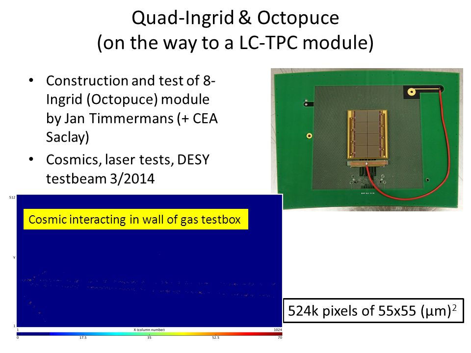 To show the 'invisible'? Cosmic interacting in wall of gas testbox