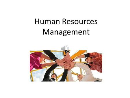 Human Resources Management Course Objectives The purpose of this course is to learn the Project Management Institute (PMI) processes required to make.
