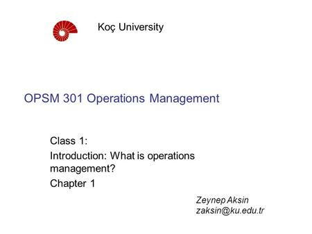 operations management chapter 1 Operations management is a vast topic but can be bundled into a few distinct categories, each of which will be covered in later units (it should be noted, however, that entire courses could be devoted to each of these topics individually ) because most people do not work in a formal operations department, we will begin with.