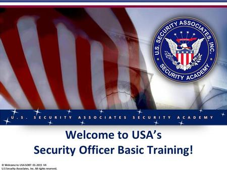 Security Officer Basic Training!