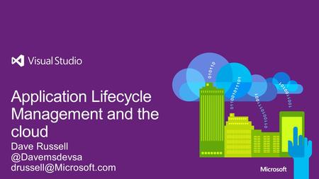 Application Lifecycle Management and the cloud