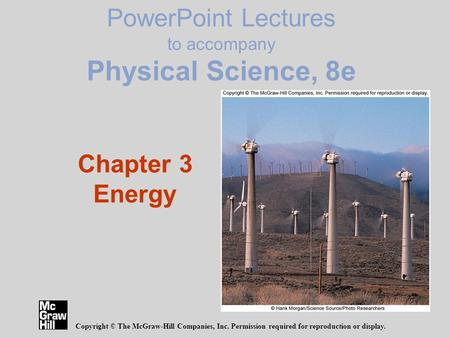 PowerPoint Lectures to accompany Physical Science, 8e