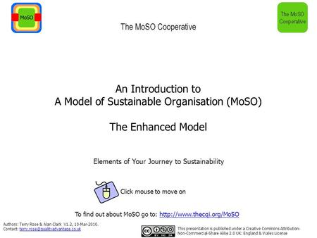 Authors: Terry Rose & Alan Clark V1.2, 10-Mar-2010. Contact: An Introduction to A Model.