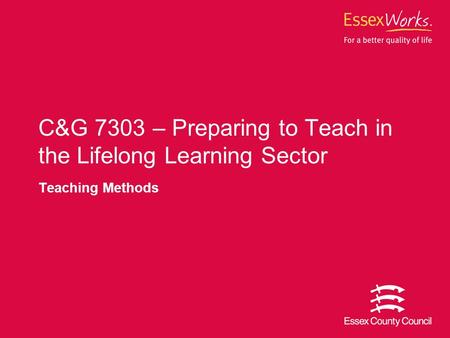 Preparing to Teach in the Lifelong Learning Sector Award Essay Sample