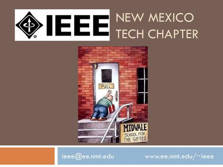 NEW MEXICO TECH CHAPTER