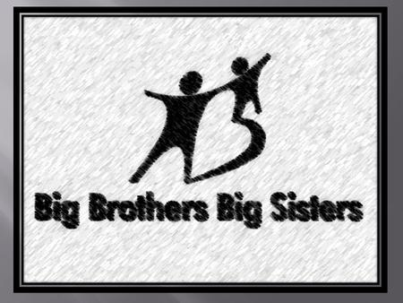  The Big Brother Big Sister program is the largest donor and volunteer supported network in the country. For over a hundred years the Big Brother Big.