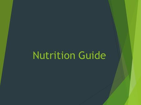 Nutrition Guide. Serving Size - Everyday examples can help you compare your portion size  1 cup green salad................................................................