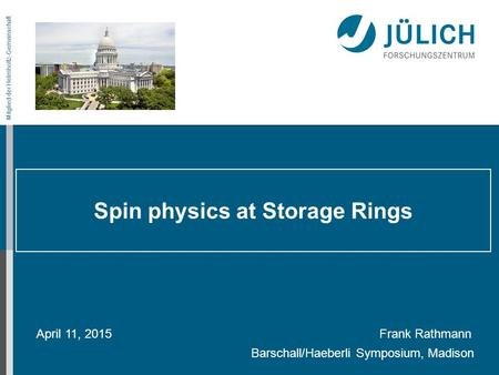 Spin physics at Storage Rings