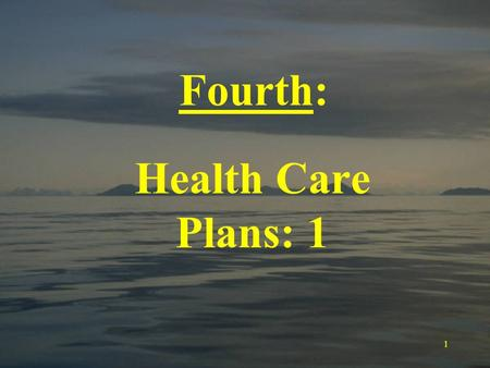 1 Fourth: Health Care Plans: 1. 2 The Economics of Health Care: Price rationing occurs because buyers base purchasing decisions on the relative quality.
