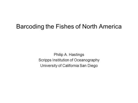 dna barcoding in fishes pdf