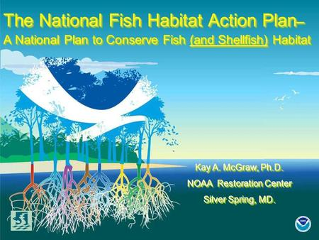 The National Fish Habitat Action Plan – A National Plan to Conserve Fish (and Shellfish) Habitat Kay A. McGraw, Ph.D. NOAA Restoration Center Silver Spring,
