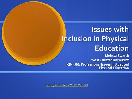 an issue of inclusion in general education On a narrower level, inclusion or mainstreaming is the act or practice of including students with disabilities in general education classes the main issue is how this act of inclusion can successfully be accomplished special needs students are students with limited abilities, (eg speech, cognitive, physical, etc) however.