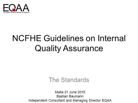 NCFHE Guidelines on Internal Quality Assurance