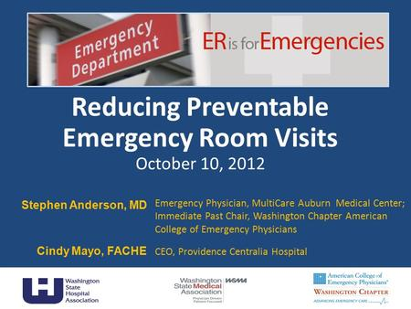 Reducing Preventable Emergency Room Visits