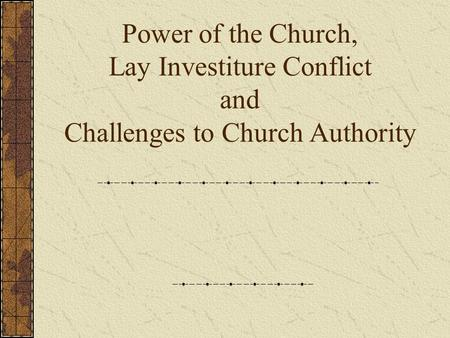 Power of the Church Due to weak, decentralized political power in Europe, the Church becomes a powerhouse How did Gelasius' quote foreshadow conflict in.