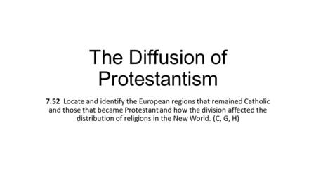 The Diffusion of Protestantism