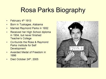 1. What did the author mean in stating that Rosa Parks had sparked ...