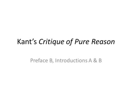Imagination in Kant's First Critique