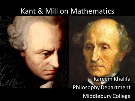 a comparison of the philosophy of kant and mill Both kant and mill were profoundly affected by david hume's so-called is-ought fallacy of moral misreasoning hume's explication of the fallacy is a reasonable criticism of most persons' ideas about ethics.