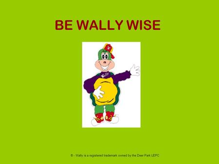 BE WALLY WISE ® - Wally is a registered trademark owned by the Deer Park LEPC.