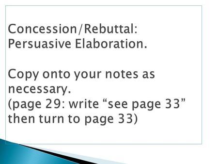 use concession essay