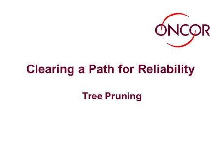 Clearing a Path for Reliability Tree Pruning. 1 Three Major Causes of Power Outages Trees, lightning and wildlife are the three major causes of power.