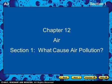 Section 1: What Cause Air Pollution?