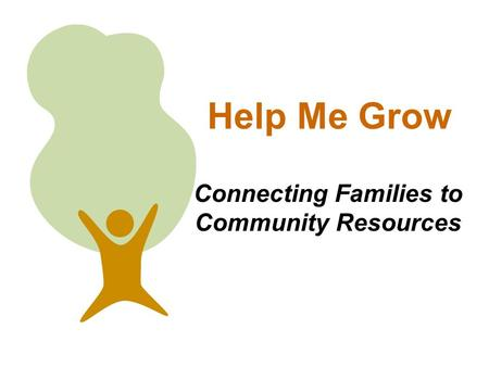 Connecting Families to Community Resources Help Me Grow.