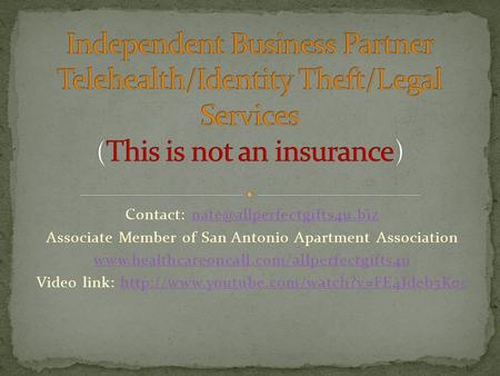 Contact: Associate Member of San Antonio Apartment Association
