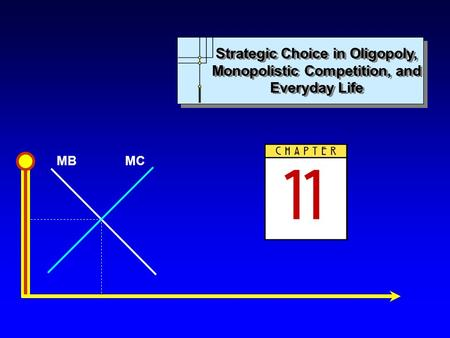 MBMC Strategic Choice in Oligopoly, Monopolistic Competition, and Everyday Life.
